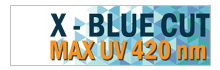X-BLUE CUT MAX UV 420nm SHMC-blue
